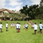 Tatu Primary School pupils take part in a past Shamas Rugby Foundation (SRF) youth rugby clinic. www.businesstoday.co.ke