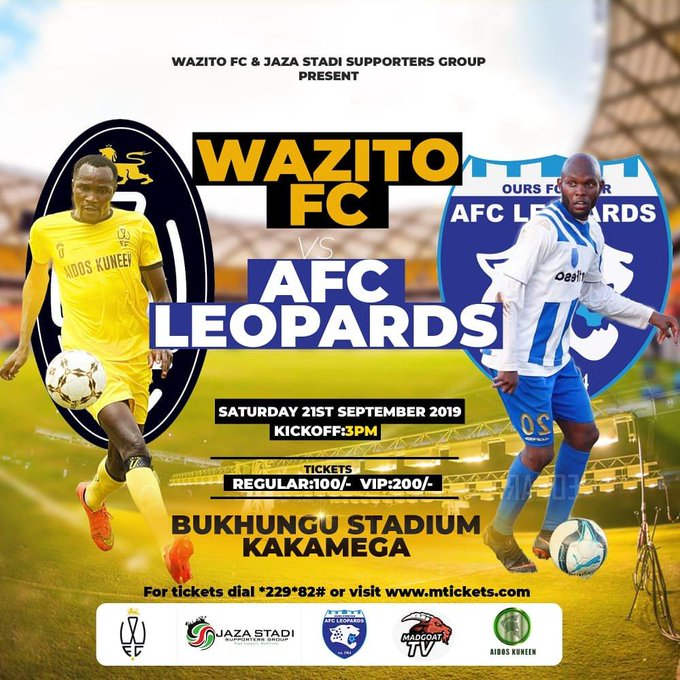 Wazito FC will face AFC Leopards at the Bukhungu Stadium in Kakamega on Saturday. Neither side has won a match in the KPL. www.businesstoday.co.ke