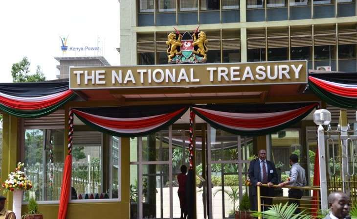 The National Treasury building in Nairobi. Going forward, as a proportion of the GDP, the National Treasury expects the budget deficit to reduce to 3.5% of GDP in 2022/23 from a high figure of 7.7% of the GDP in 2018/19. www,businesstoday.co.ke
