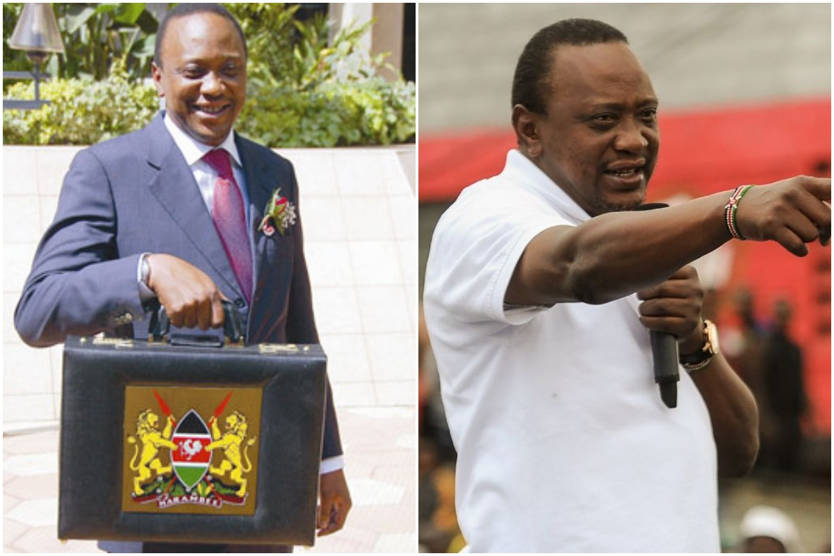 President Uhuru Kenyatta when he was young and thin, older and fat www.businesstoday.co.ke