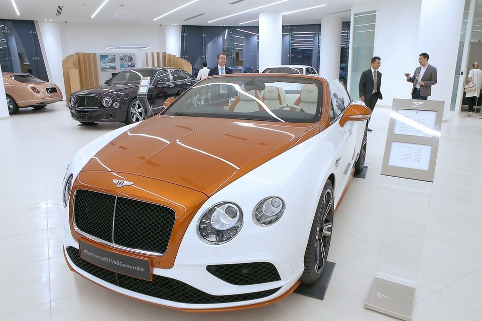 A Bentley Showroom in the United Arab Emirates. Kenya has been ranked a top market for luxury goods. www.businesstoday.co.ke