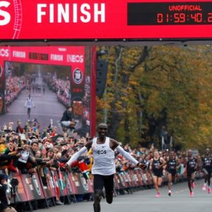 Eliud Kipchoge wins ineos marathon www.businesstoday.co.ke