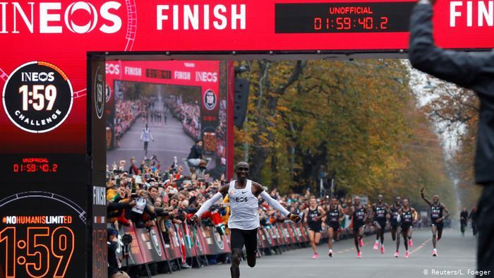 Eliud Kipchoge wins ineos marathon www.businesstoday.co.ke