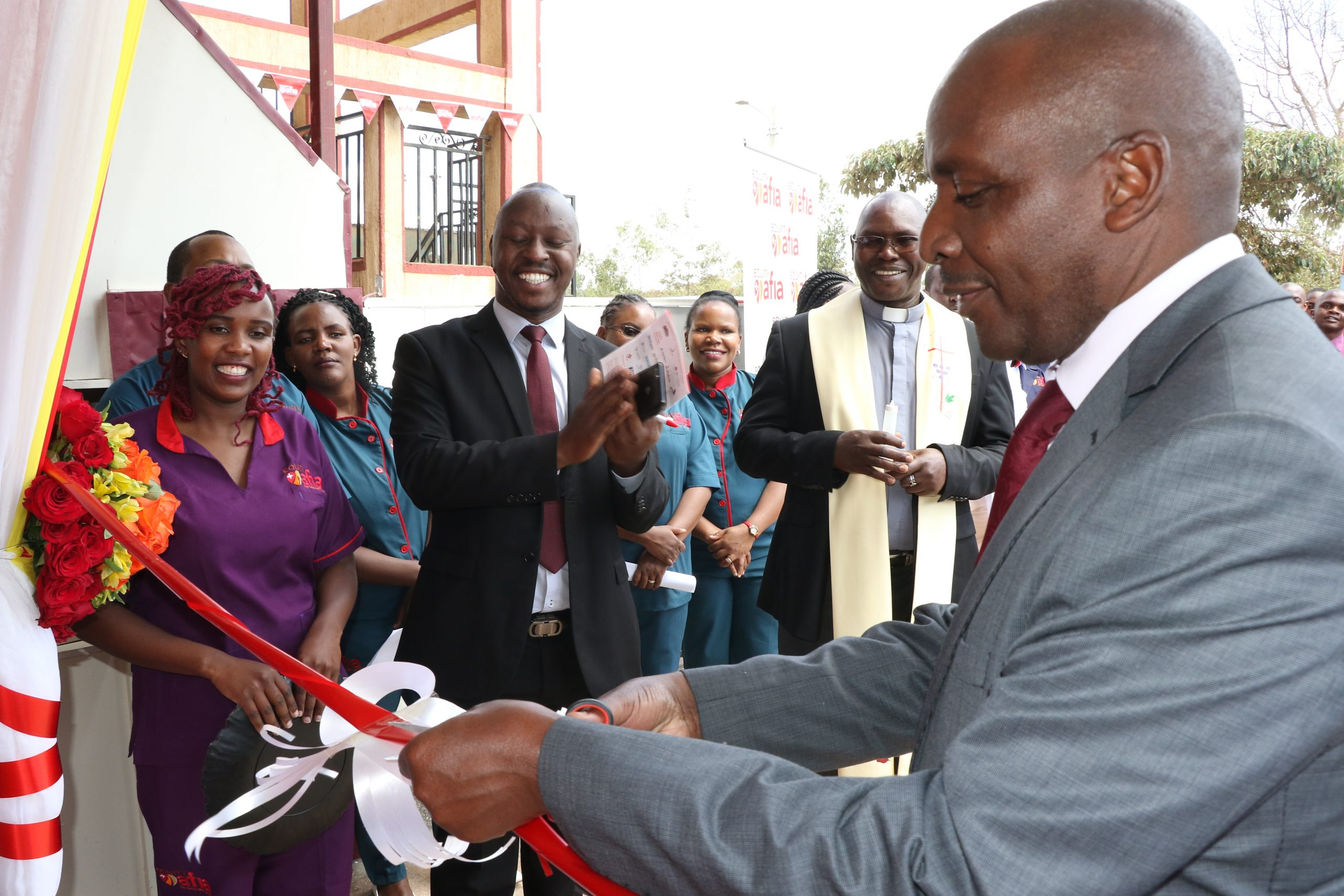Equity Group Foundation Executive Director, Reuben Mbindu, during the opening of the Equity Afia clinic in Kahawa West. www.businesstoday.co.ke