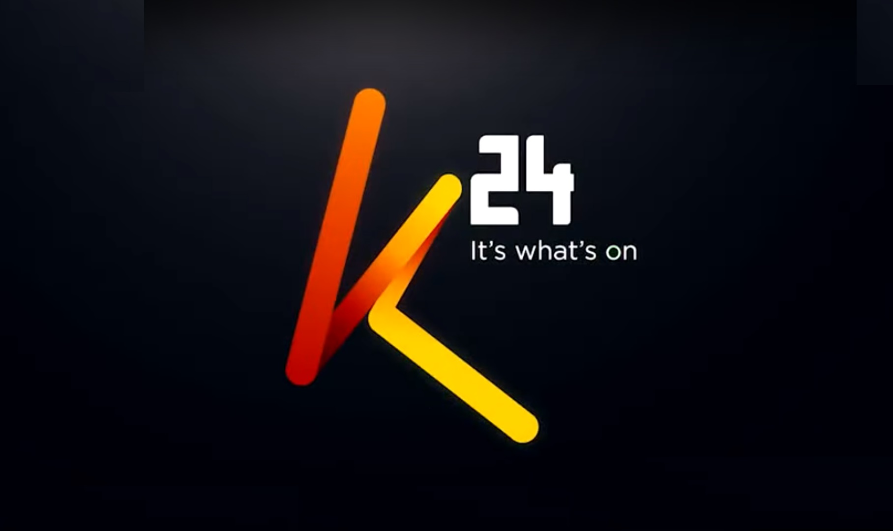 The new K24 logo after it relaunched a few months ago. Despite the new look, the company has fired 160 employees as it scales back to tame costs. www.businesstoday.co.ke