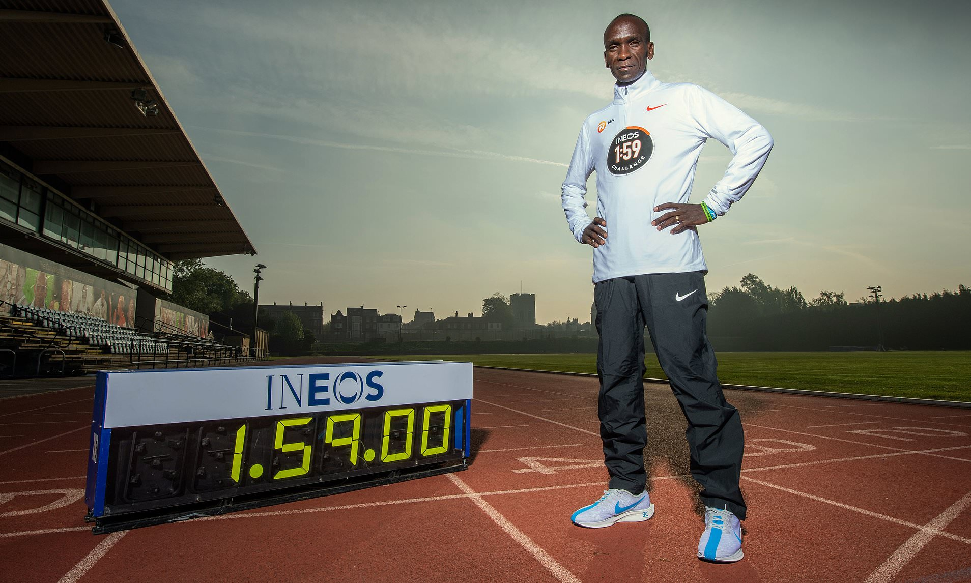 For the INEOS 1:59 Kipchoge will be using special shoes by Nike which will help him run faster. Photo/ INEOS 1:59