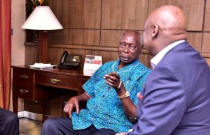 Former President Daniel Toroitich arap Moi with his son Gideon. He passed on while undergoing treatment at Nairobi Hospital. www.businesstoday.co.ke