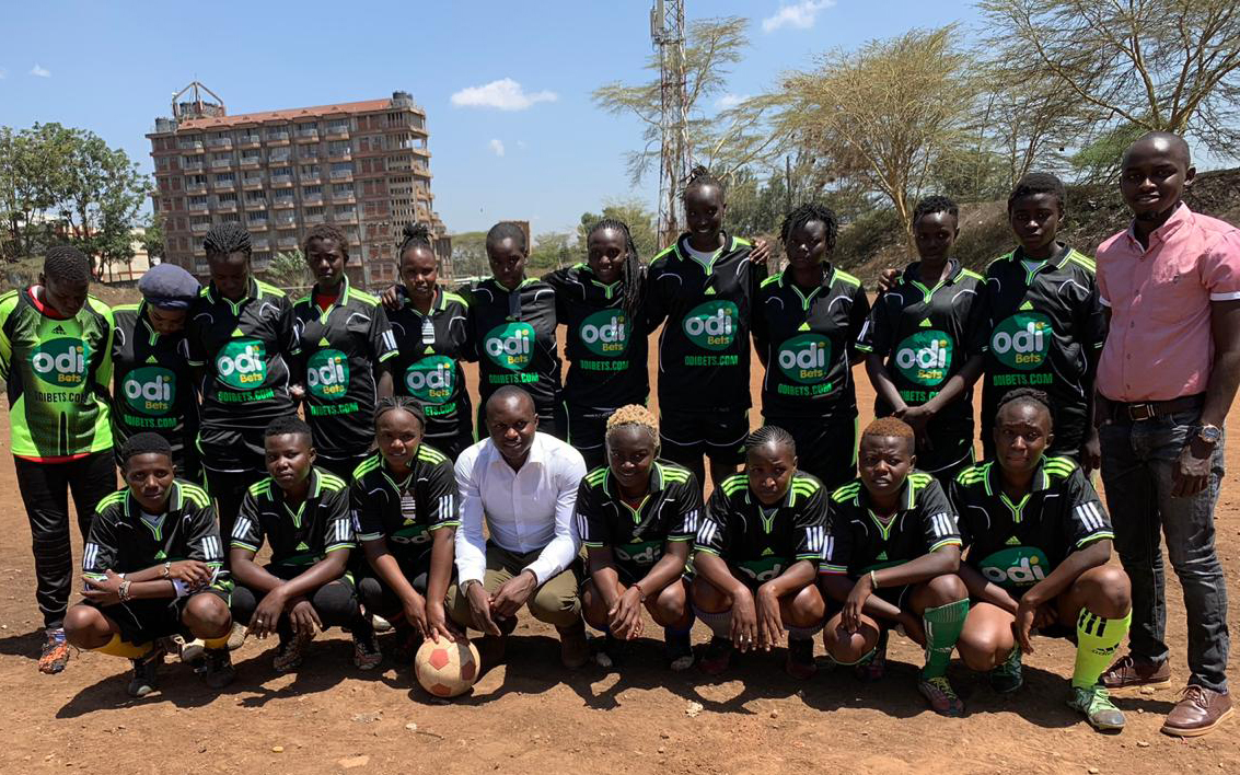 Local team receives kits courtesy of Odibets, The betting company is focused on grass-root football sponsorships. www.businesstoday.co.ke