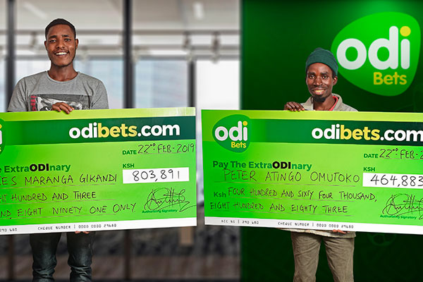 Odibets revealing its biggest winners. The company has initiated a kit sponsorship initiative to promote safe gambling. www.businesstoday.co.ke