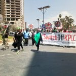 Some of the #SwitchOffKPLC protesters during a demonstration. The Kenyan is threatening the highest echelons of power in kenya to have power bills brough down. www.businesstoday.co.ke