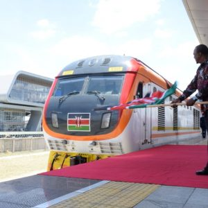 President Uhuru Kenyatta officially flags off the inaugural Nairobi-Suswa SGR trip. www.businesstoday.co.ke