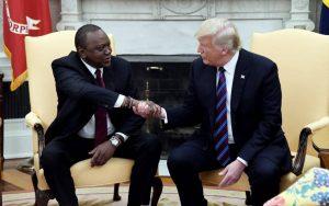 President Uhuru Kenyatta with US President Donald Trump. American companies are setting up shop in Kenya despite gloomy economic outlook. www.businesstoday.co.ke