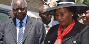 Wambui Kibaki with former President Mwai Kibaki. She was appointed to chair the National Employment Authority which is mandated with creating jobs for Kenyans. www.businesstoday.co.ke