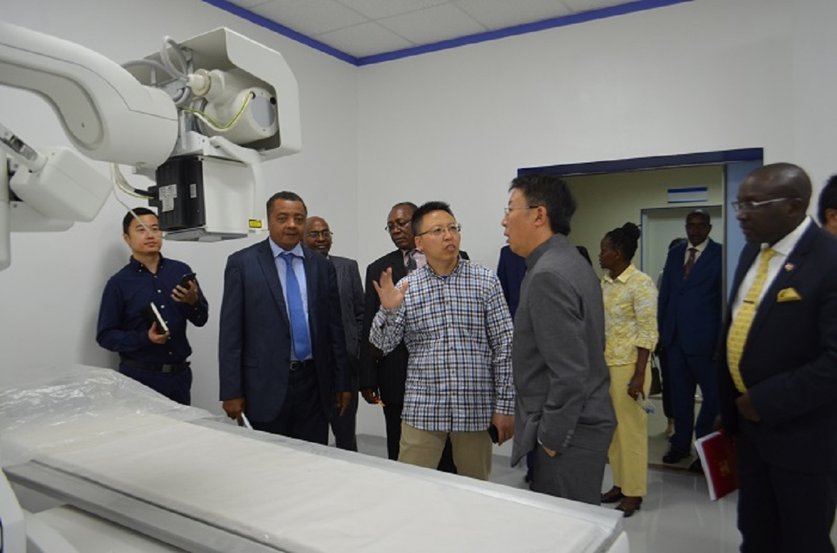 Chinese Ambassador to Kenya, Wu Peng, when he toured the Kenyatta University Referral Hospital. The hospital's success is pegged on its ability to repay the Chinese loan used for its construction and equipping. www.businesstoday.co.ke