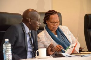 KNEC CEO Mercy Karogo with Education PS Belio Kipsang. KNEC is minting millions by releasing examinations results on SMS. www.businesstoday.co.ke