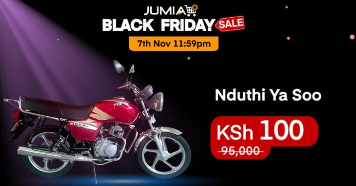 Three lucky Kenyans bought a motorbike for Sh 100 during the first night of Jumia Black Friday. www.businesstoday.co.ke