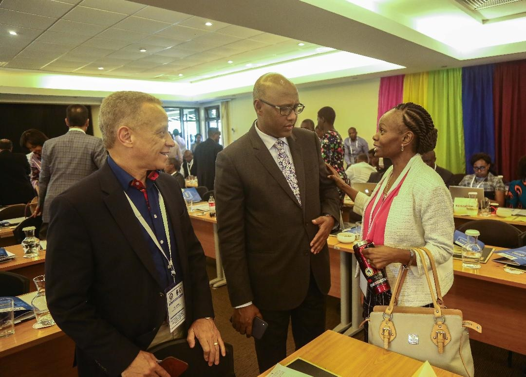 KEPSA Chairman Nick Nesbitt, EAC CS Adan Mohamed and KEPSA CEO Carole Kariuki. KEPSA complains that so many people, for some reason, have the authority to stop a business from running. www.businesstoday.co.ke