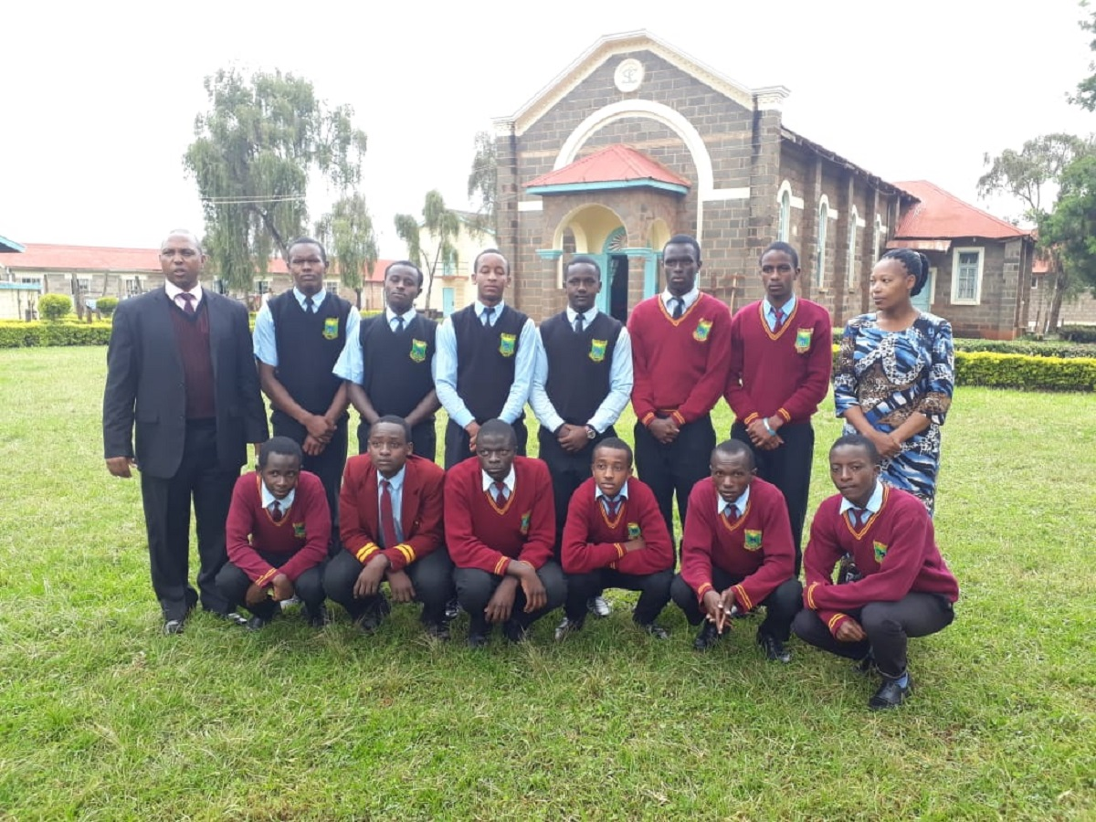 Some students of Nyeri High school posing for a photo outside a chapel in the school. It is one of the ordinary schools which have made a mark on the continent and they boast of being among the top 100 in Africa. www.businesstoday.co.ke