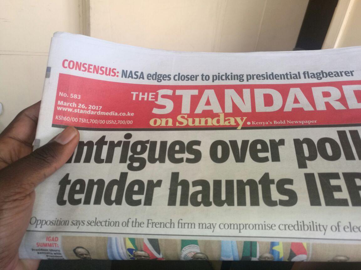 Standard newspaper defamation cases www.businesstoday.co.ke