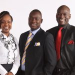 (L-R) Belinda Obura, Mike Njenga and Tom Mboya during the promotional campaign by Citizen when it relaunched. Belinda and Tom were later hired and fired after a short stint at K24. www.businesstoday.co.ke