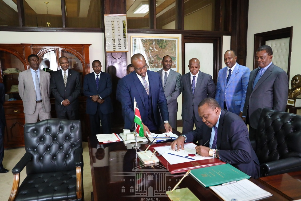 Uhuru signs into law interest capping www.businesstoday.co.ke