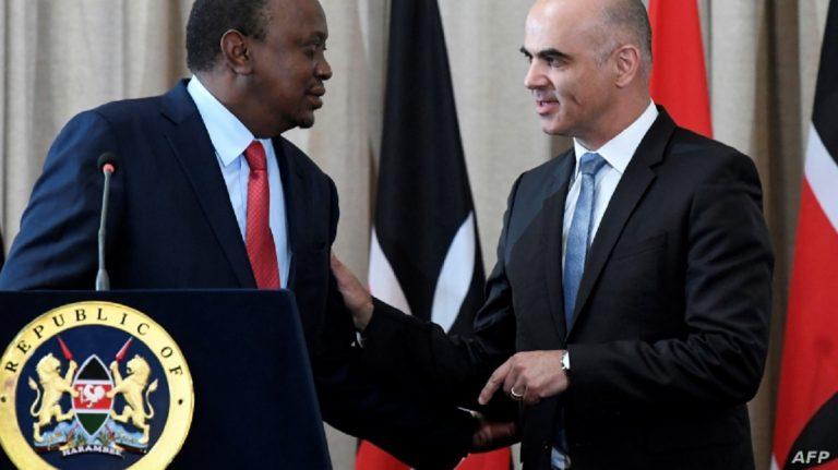 President Uhuru Kenyatta with Swiss President Alain Berset. The two signed an agreement in July last year for the repatriation of stolen wealth from Switzerland to Kenya. www.businesstoday.co.ke