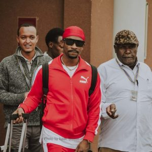 Jamaican Reggae Artist Chris Martin at the airport after landing in Kenya. www.businesstoday.co.ke