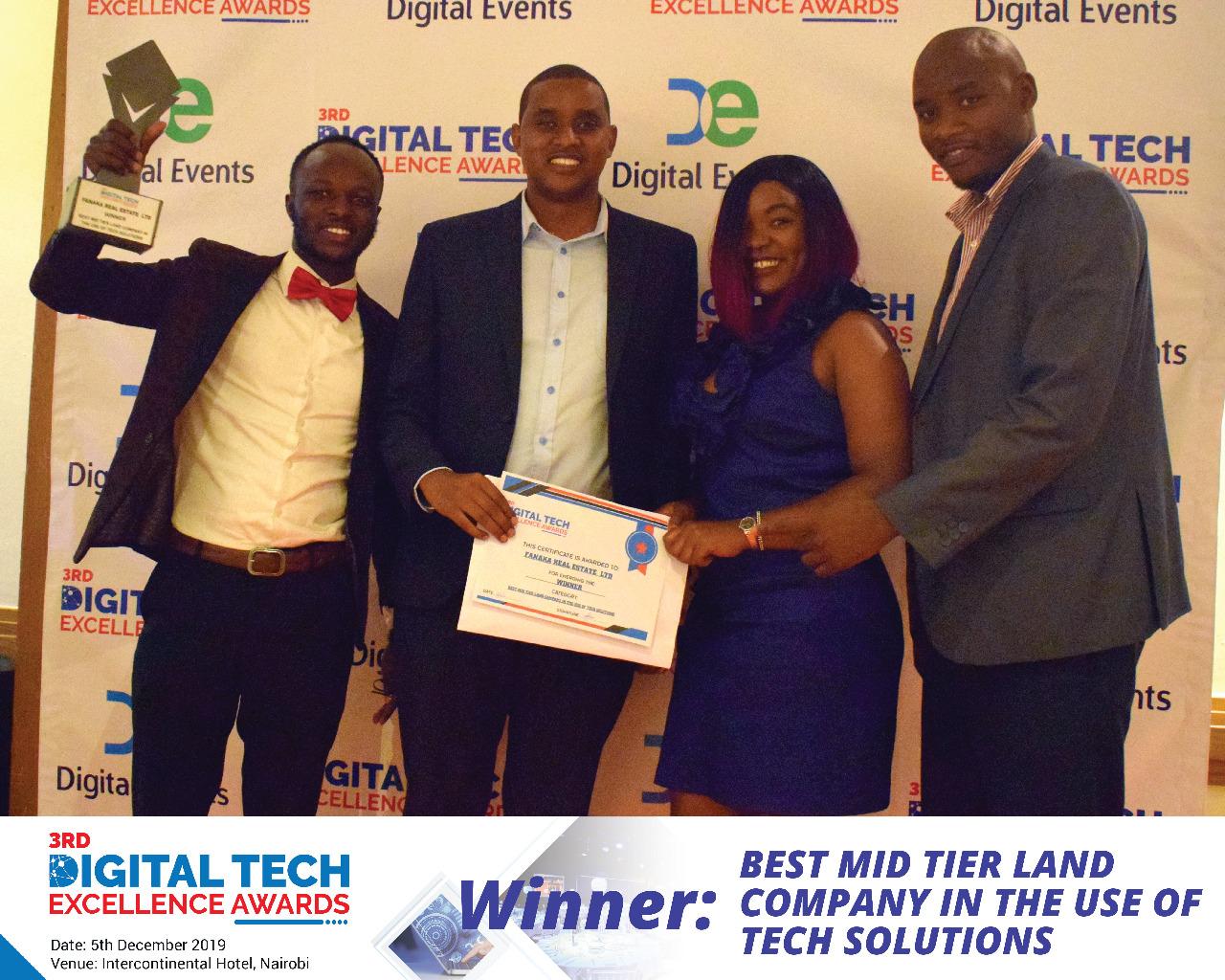 Fanaka Real Estate Wins Award for affordable plots www.businesstoday.co.ke