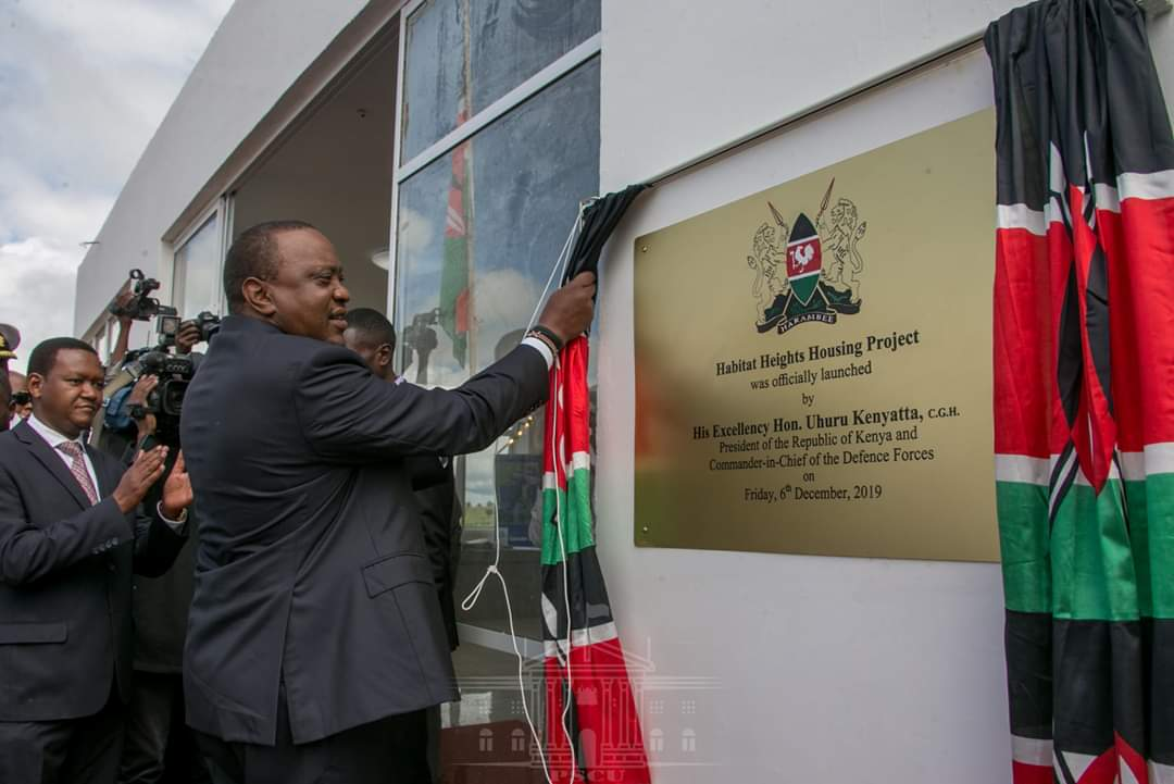 Habitat Heights Lukenya - Uhuru launches affordable housing project www.businesstoday.co.ke