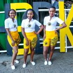 (L-R) Tusker Lager Brand ambassadors Melanie Ogutu,Margaret Nzilani and Ester Charity pose for a photo at a past event at K1. www.businesstoday.co.ke