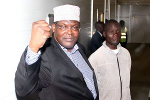 Miguna Miguna at Jomo kenyatta airport the day he was deported to Canada . www.businesstoday.co.ke