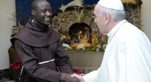 The continent's most celebrated teacher Peter Tabichi with Pope Francis at the Vatican. This was during a special ceremony attended by around 20 people on Tuesday. www.businesstoday.co.ke