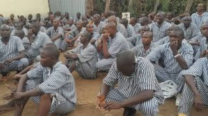 A photo of petty offenders in priosn before they were released. Photo/ Citizen Digital