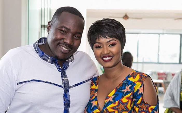 Willis Raburu with his wife Marya Prude. She has denounced the existence of God after losing her infant daughter. Photo/Marya Prude via Instagram