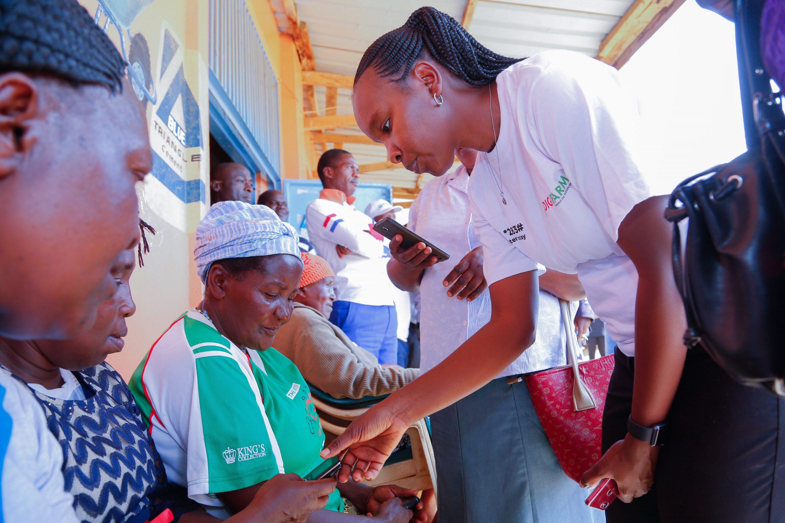 registration process outside the DigiFarm depot in Mbumbuni. www.businesstoday.co.ke