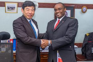 WCO Secretary General Dr Kunio Mikuriya (L) with KRA Commissioner for Customs and Border Control Kevin Safari. Mikuriya has lauded KRA's efforts on tax administration and modernization measures it has put in place to facilitate trade. www.businesstoday.co.ke