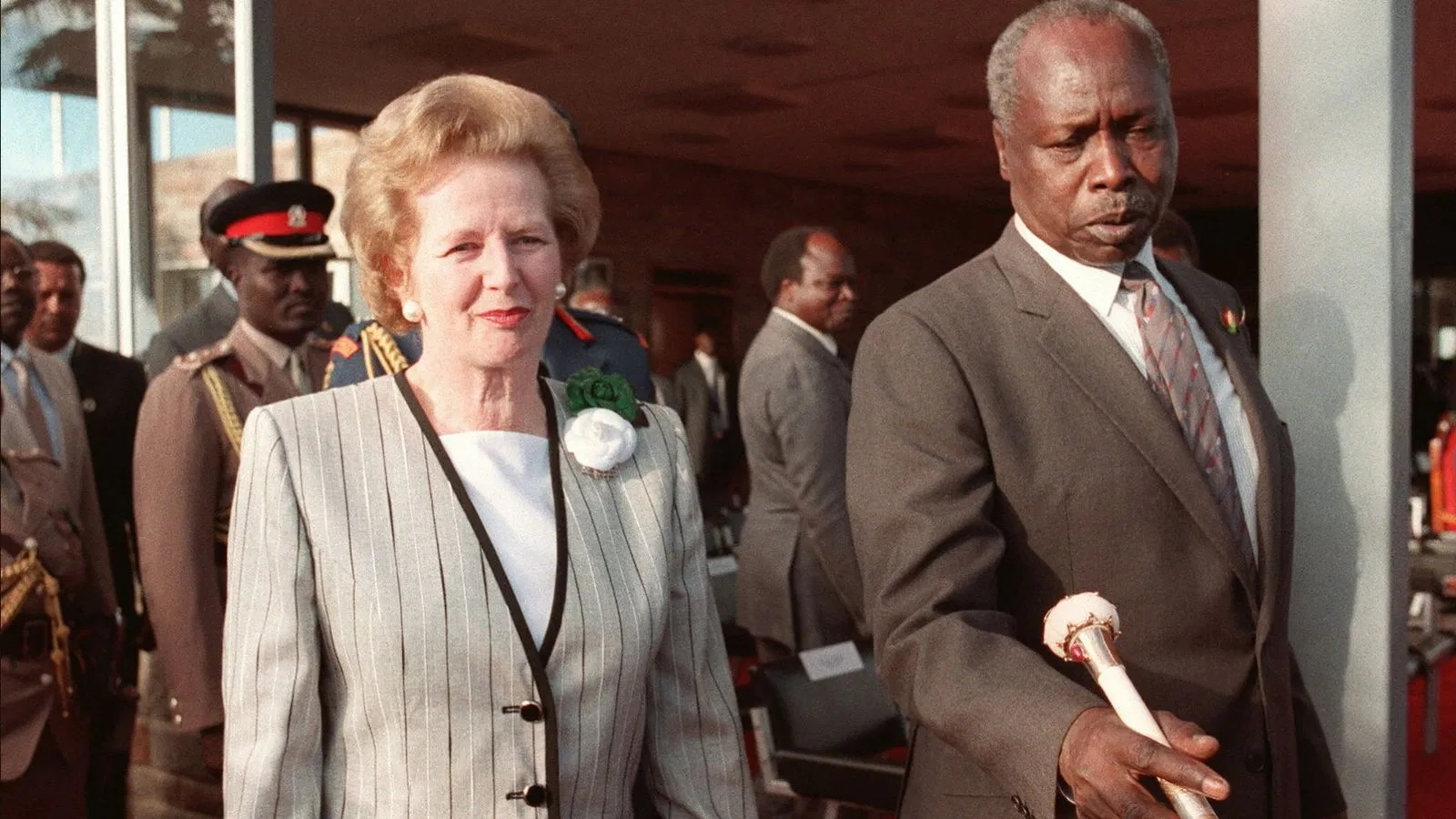 Former President Daniel Arap Moi with British Prime Minister Margaret Thatcher. A WikiLeaks dossier hinted at Moi's wealth being so much that the man was treated as a matter of national security. www.businesstoday.co.ke