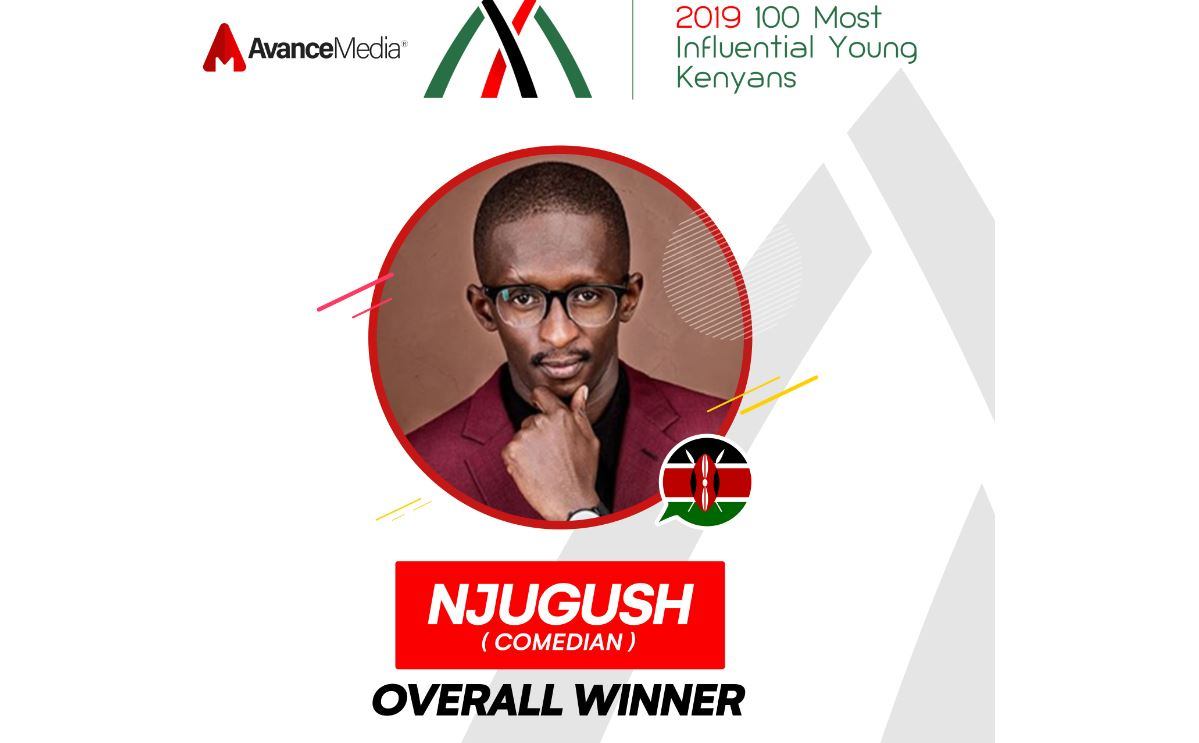 Njugush was voted the most influential young Kenyan in 2019. www.businesstoday.co.ke