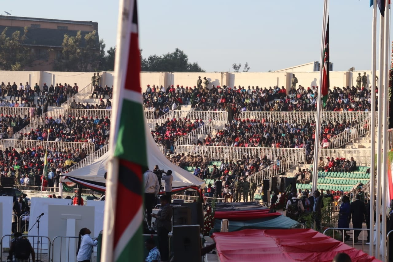 The Nyayo Stadium is packed as Kenyans attend the late President Moi's State Memorial Service. www.businesstoday.co.ke