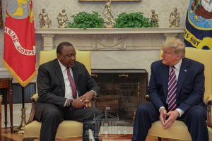 Presidents Donald Trump (US) right, and Uhuru Kenyatta left during a meeting at the White House. The two have firmed up bilateral relations where Kenya-US Free Trade Agreement is key among the deliberations. www.businesstoday.co.ke