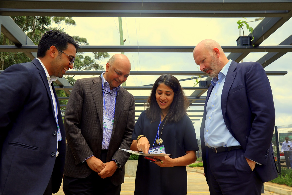 From Right: Richard Hough Africa Logistics Properties (ALP) C.E.O, Ranee Nanj, Co-CEO - Tilisi - Palkesh Shah, Chairman - Kenya Property Developers Association (KPDA) and Kavit Shah, Co-CEO Tilisi discussing on ALP Nairobi North logistics facility that is targeting SMEs. www.businesstoday.co.ke