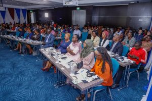 Participants follow proceedings during the launch of Paliperidone Palmitate for the treatment of schizophrenia. It will be used by adults whose disease has already been stabilized on treatment with paliperidone or risperidone. www.businesstoday.co.ke