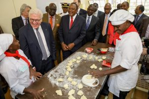 Presidents Uhuru Kenyatta and Frank-Walter Steinmeier at the Kiambu Institute of Science and Technology (KIST). Kenya and Germany are investing Sh4 billion in technical institutes in Kenya. www.businesstoday.co.ke