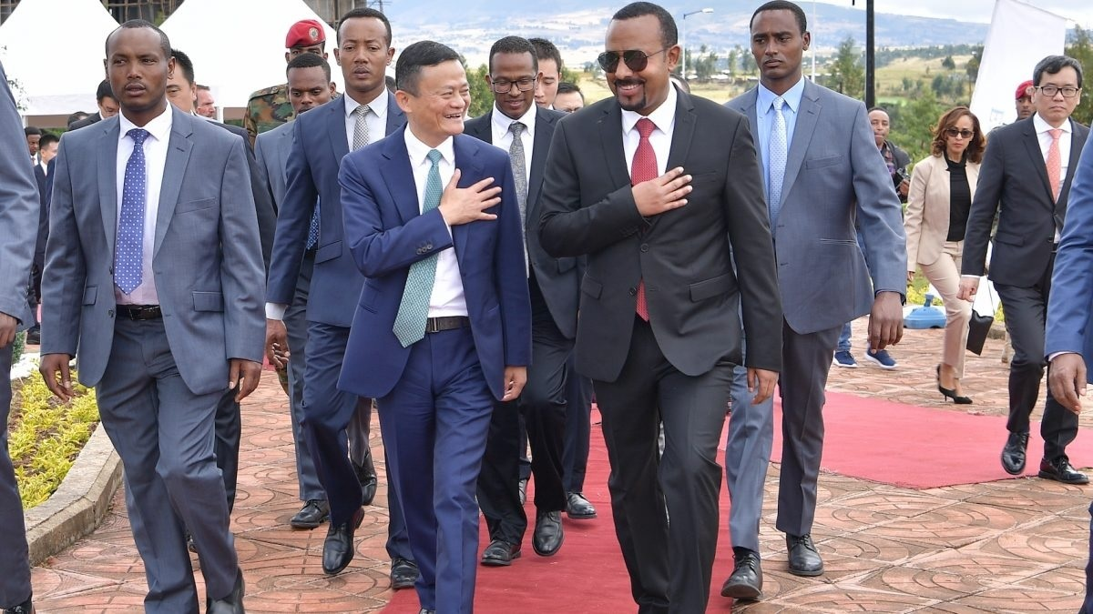 Ethiopia Prime Minister Abiy Ahmed ith Alibaba Founder Jack Ma. The Jack Ma Foundation has donated 100,000, 20,000 test kits and 1,000 to each of the 54 countries in Africa. www.businesstoday.co.ke