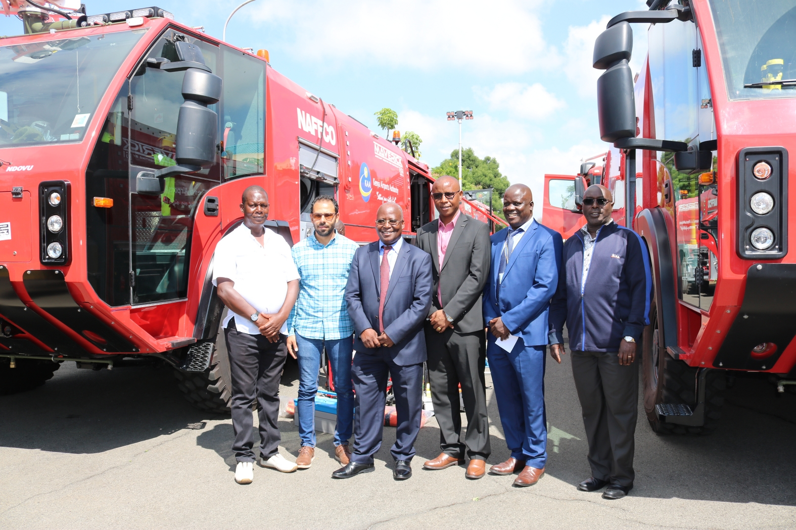 The rescue and fire-fighting trucks Kenya Airports Authority (KAA) acquired at a cost of Ksh 369 million. www.businesstoday.co.ke