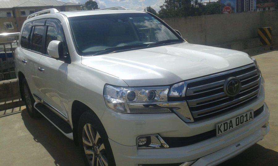 The Toyota Land Cruiser Prado which boasts the number plate KDA 001A. www.businesstoday.co.ke