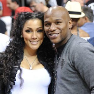 Mayweather with Harris when they were still dating. www.businesstoday.co.ke