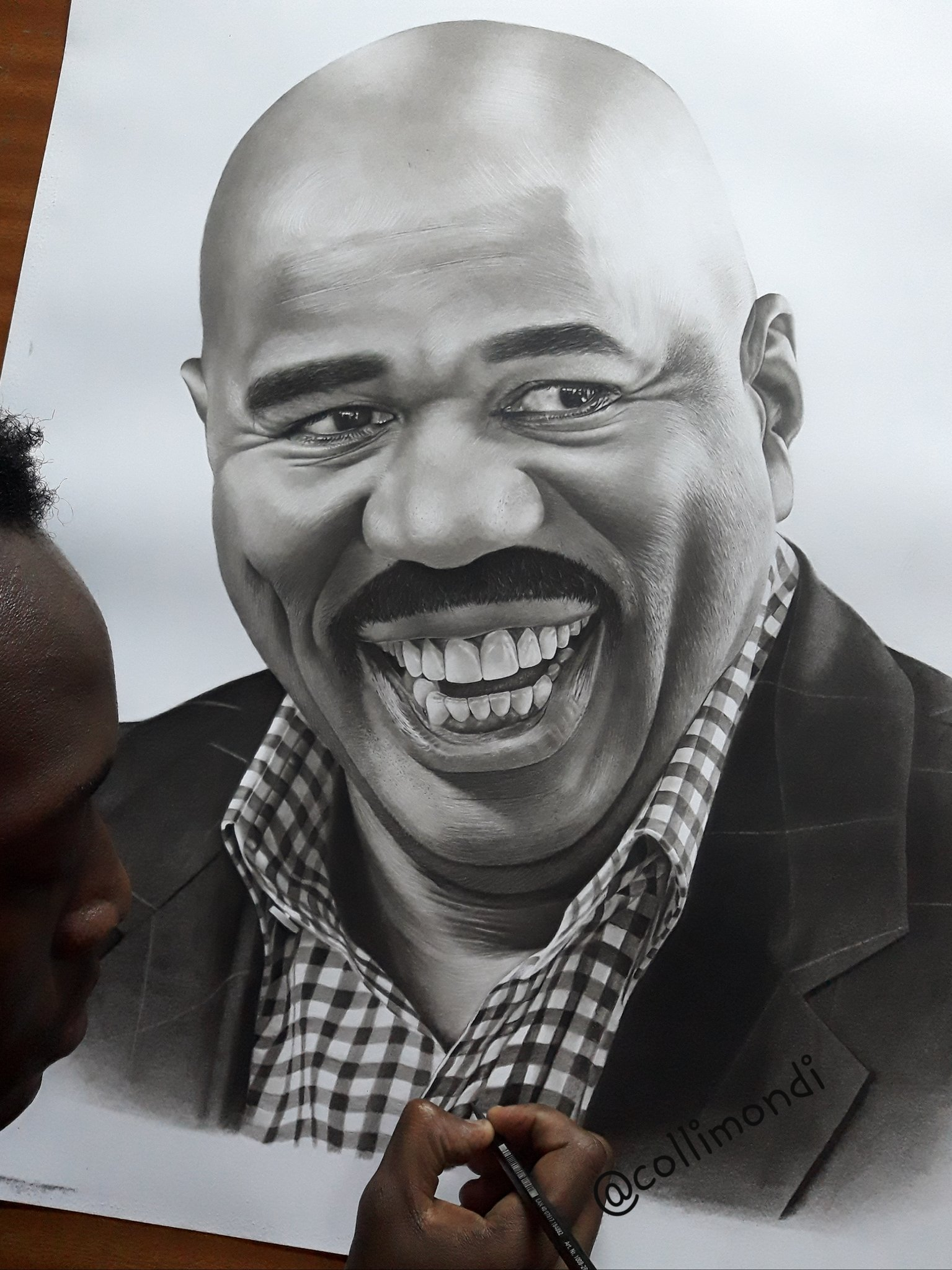 Image result for drawing of steve harvey by kenyan artist