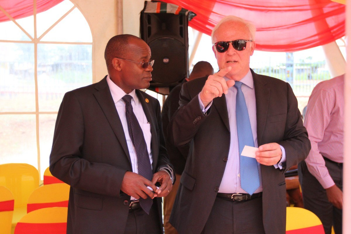 Vivo Energy CEO Christian Chammas (R). He announced the resignation in a terse statement with Omar Benson as the replacement for Igathe. www.businesstoday.co.ke