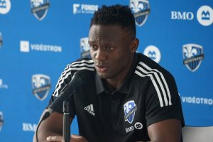 Victor Wanyama during his first press conference at Montreal Impact. www.businesstoday.co.ke